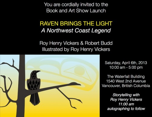 """""""Meet and hear Roy in Vancouver on April 6th, 2013."""""""